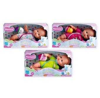 Famosa 700012087 - Nenuco Bambola Con Biberon E Pigiama Fragola