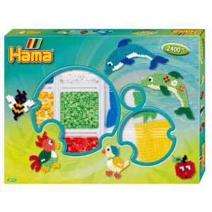 Perline Stirabili Hama Box Set Verde 2400 Pz Pyssla Gioco Creativo PS 06114