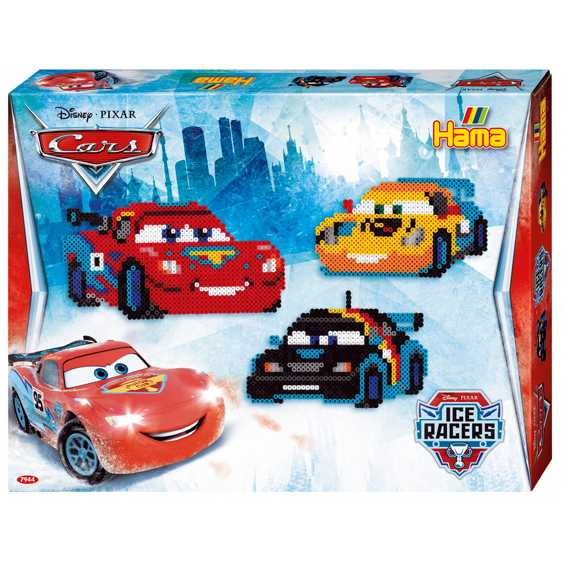 Hama 7944 - Originale Perline - Confezione Regalo Disney Cars, Circa 4000 Perle, 2 Piastre Pin E Accessori