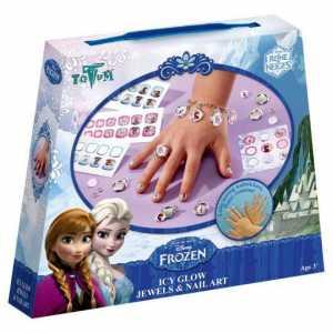 Totum- Disney Frozen / La Regina Dei Ghiacci / Mestiere Set: Gioielli Artigianato + Adesivi Unghie