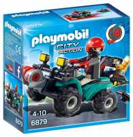 Playmobil Rapinatore Su Quad Con Refurtiva,, 6879