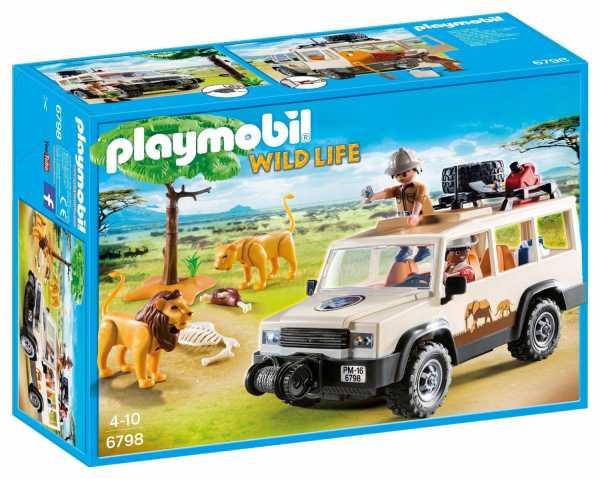 Playmobil 6798 - Fuoristrada Nella Savana Con Leoni, Multicolore