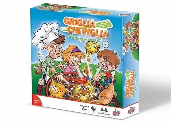 Grandi Giochi GG00180 - Griglia Chi Piglia, Gioco Da Tavolo, Multicolore