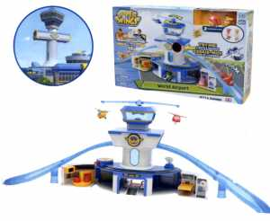 Super Wings UPW06000 Set Gioco Torre Di Controllo Con Luci E Suoni Con Personaggi Jett E Donnie
