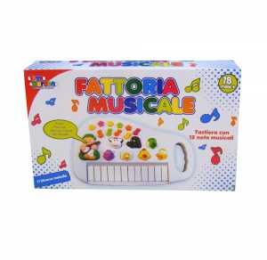 Giochi Musicali Mio Bebe' PIANOLA Animali Della FATTORIA Con Luci E Suoni 24508