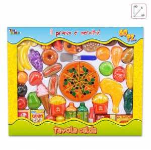 SET CUCINA CIBO GIGANTE Pezzi 60 - Toys Garden (26193)