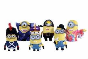 Il Film 2015 Minions Illuminazione: Bellissimo Peluche 28 Centimetri Versione Premium In 3D, Solo 1 Minion Casualmente Travestimento