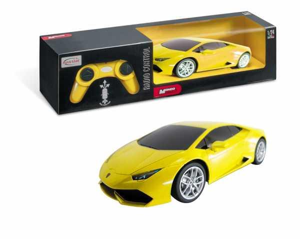 Mondo - Lamborghini Huracan Veicolo Radiocomandato Scala 1:24, Colore Giallo/Arancione/Bianco, 1899-12-31T01 00.000Z, 63303
