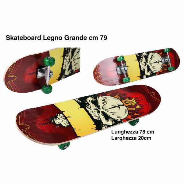 Odg S.R.L- Skateboard Grande, 79 Cm, ODG102, Multicolore, 874016