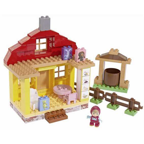 Big 800057096 - Mascha Costruzioni Casa Di Masha, Con Un Personaggio Incluso, 95 Pezzi