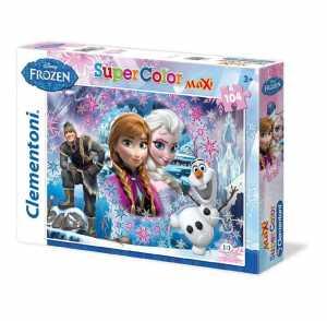 Clementoni 23662 - Maxi Puzzle Frozen, 104 Pezzi