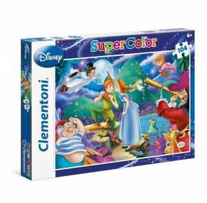 Clementoni 27915 - SuperColor Puzzle Peter Pan, 104 Pezzi