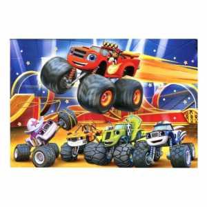 Clementoni 23984 - Puzzle Maxi Blaze And The Monster Machines, 104 Pezzi