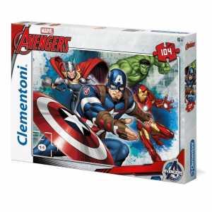 Clementoni 27973, Puzzle Avengers - Captain America, 104 Pezzi