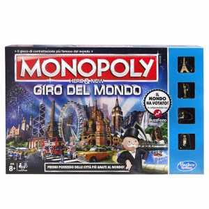 Hasbro - Monopoly Giro Del Mondo Gioco Da Tavolo [Versione In Italiano]