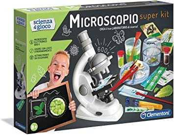 Clementoni 13967 - Scienza E Gioco Microscopio Super Kit