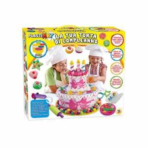 Teorema 64645 - Attività Creative Plastiart Torta Di Compleanno, 6 Barattoli Da 57 Grammi Di Plastilina Con Accessori