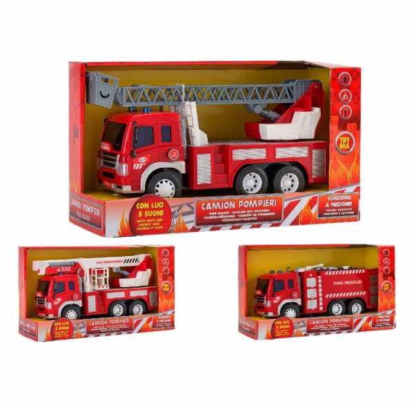 Globo- Camion Pompieri A Frizione, Multicolore, 3.GL37312