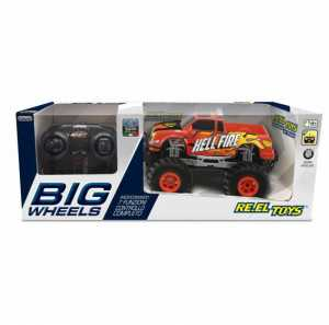Re.El Toys Pick Up Big Wheels Rosso-Scala 1/20 Mezzi Giocattolo Jeep E Quad, Multicolore, 8001059021222