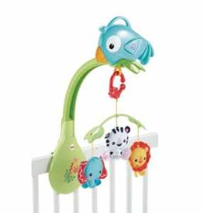 Fisher Price CHR11 - Animali Foresta Giostrina Musicale, 3 In 1