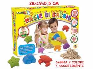 Magie Di Sabbia - Sabbia Magica, 300 Gr, 2 Colori, 3 Stampini, Assortimento 1