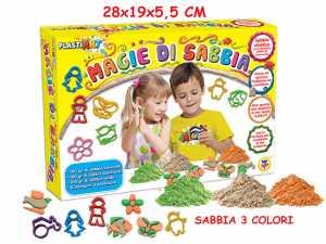 Teorema 64056 - Magie Di Sabbia Set Sabbia Modellabile, Con 8 Formine E Tre Colori