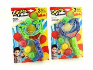 Globo Toys Globo - 37193 Fionda Bicolore Con 3 Palline, Per L'estate