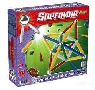 Supermag Toys - 0102 - Maxi Classic Gioco Di Costruzioni Magnetico, 44 Pezzi