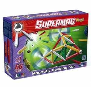 Supermag Toys - 0103 - Maxi Classic Gioco Di Costruzioni Magnetico, 66 Pezzi