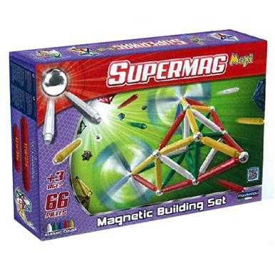 Plastwood Gioco Di Costruzioni Magnetico, Colori Primari, 103