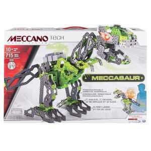 Meccano 6028398 - Meccasauro Dinosauro Interattivo, 715 Pz.