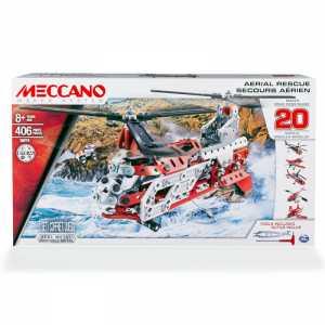 Meccano-6028598 Helicopter Multi Modello Da 20-Elicottero, 6028598