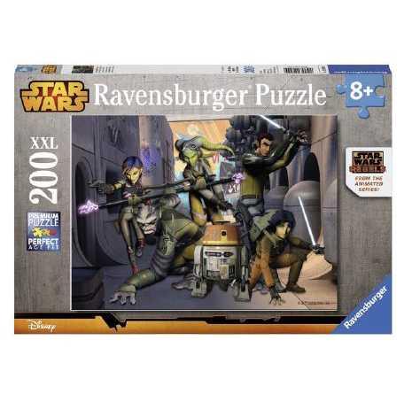 Ravensburger 12809 9 - SW Star Wars Rebels Puzzle Super, 200 Pezzi, Cartone