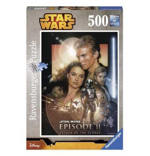 Ravensburger 14666 - Star Wars L'Attacco Dei Cloni Puzzle, 500 Pezzi
