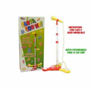 MICROFONO ASTA 120 CM LUCI BAS - Toys Garden (26175)