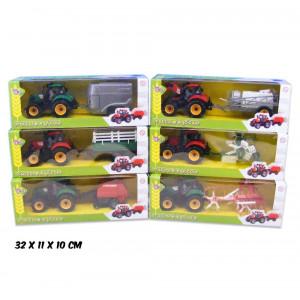 TRATTORE CON RIMORCHIO CM 35 6 - Toys Garden (26256)