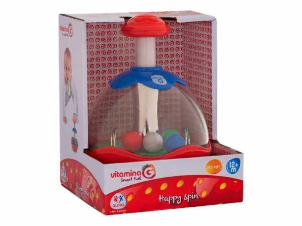 Globo Bimbo Trottola A Frizione Con Palline 05178 Giochi Per Bambini, Multicolore, Unica, 8014966051787