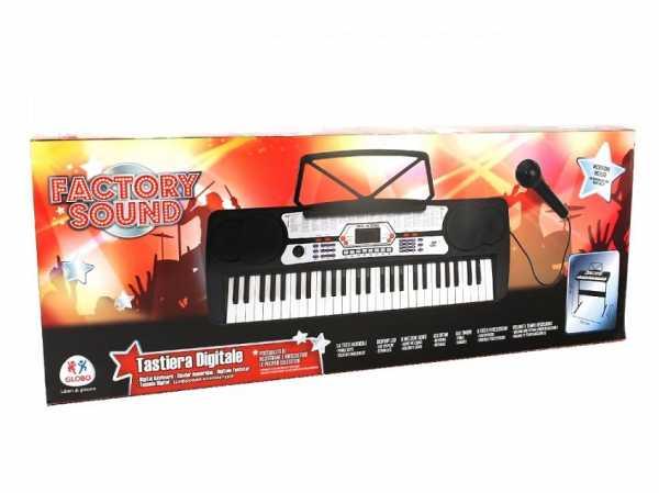 Globo Globo–37342Factory Suono 54-keys Pianoforte Con Microfono/Gambe/100ritmi E 8Song