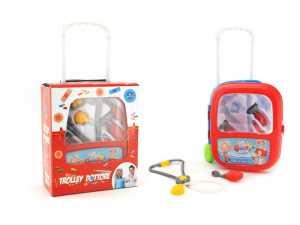 Smart 37385 - Valigetta Trolley Set Dottore Con Accessori, Rosso