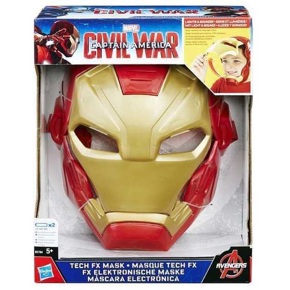 Avengers - Iron Man, Maschera Elettronica + Marvel Captain America - Iron Man, Armatura Per Braccio Deluxe
