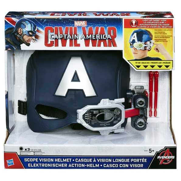 Avengers - Capitan America - Elmetto Elettronico + Scudo Lancia-Dischi
