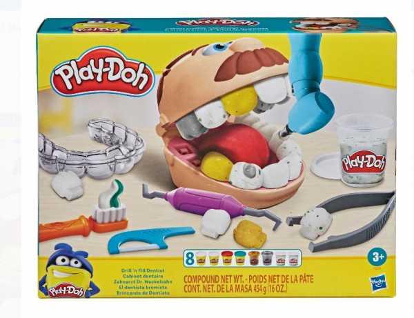 Play-Doh B5520EU40 - Dottore Trapanino Con Duracell Plus Power Batterie Alcaline, Stilo AA, Confezione Da 4