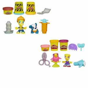 Hasbro Play-Doh Playdoh Town Personaggio Con Animale, HA-B3411, Modelli Assortiti