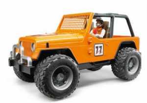 Bruder 02542 Jeep Cross Country Race Con Pilota, Arancione
