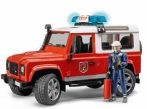 Bruder 02596 - Land Rover Defender, Station Wagon ,Pompieri