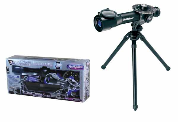 Odg S.R.L- Telescopio 3 In 1 C/Trepiede 683, Multicolore, 874077