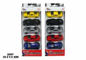 SET 5 AUTO DIE CAST SCALA 1 48 - Toys Garden (26197)