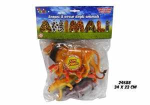 BUSTA ANIMALI SAVANA SUONO 4PZ - Toys Garden (24688)