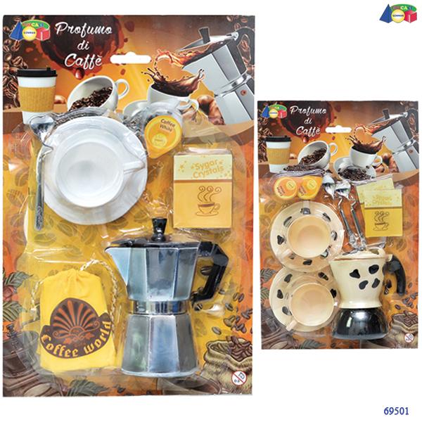 Set CUCINA CAFFETTIERA CON TAZZA 30 CM - Ginmar (69501)
