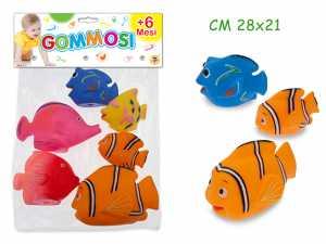 GOMMOLOSI ANIMALE PESCE 6pz 74068
